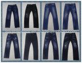 pantalones vaqueros 9oz y tela flacos azules grises en la venta (HY2509-09S)