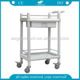AG-Uta08 con empujar las carretillas médicas del carro de la caída del hospital de la maneta