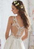 2017着の軽くて柔らかいストラップの花嫁のウェディングドレスWd512