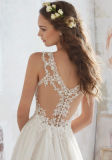 2017 robes de mariage nuptiales de courroies Chiffon Wd512