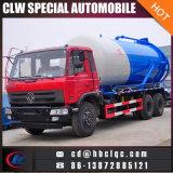 Água de esgoto do caminhão da drenagem da água de esgoto de Dongfeng 16m3 14m3 que suga o caminhão de tanque