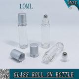 10ml effacent la bouteille en verre de boule de commande avec la boule de commande en métal