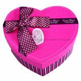 Rectángulo de regalo rosado impreso aduana de la cartulina con la tapa