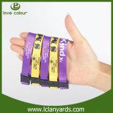 Wristbands personalizados para la venta al por mayor del traspaso térmico de los acontecimientos