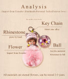 Trousseau de clés préservé de Monchhichi de fleur pour le cadeau