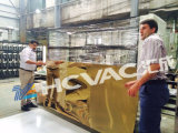 Vakuumbeschichtung-Maschine des Hcvac Edelstahl-Möbel-Blatt-Rohr-GoldPVD (D2200*H4000)