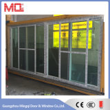 Porta de vidro de deslizamento Mqd-3 do PVC da porta do balcão