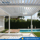 Motoried impermeable Pergola ajustable Louvered patio cubierta de techo