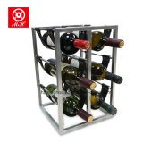 Creative PU Leather Wine Rack Metal Display