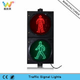 Luz vermelha do pedestre do verde 300mm da luz de sinal do tráfego do diodo emissor de luz