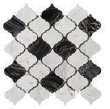 建築材料(FYSL351)のための安いウォータージェットの石の床タイルの大理石のモザイク