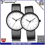 Nuevos relojes de la promoción de la voga de las mujeres de los hombres del reloj de los pares de la correa de cuero de la alta calidad del cuarzo de Japón Movt del reloj de la manera Yxl-468