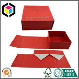 無光沢の赤い色刷のボール紙のギフトの宝石類の収納箱