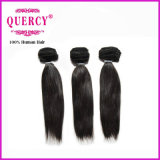 Peut être teintée Straight Indian Remy Hair Bulk Machine Weft