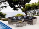 Muebles determinados de mimbre al aire libre del sofá de Textilene que tejen