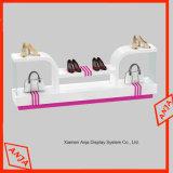 Estante de madera del zapato del soporte de visualización de los zapatos