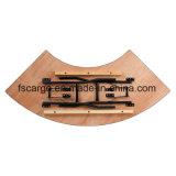 5.5フィートX 2フィートの蛇行した木製の折る宴会表(CGT1622)