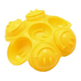 Molde material del silicón de la categoría alimenticia del certificado del FDA, molde sonriente de /Chocolate del molde del pudín del silicón del molde de la torta del silicón de la dimensión de una variable de la cara