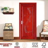 Puerta de madera del MDF de la chapa de caoba del vestuario (GSP8-006)