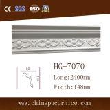 Corona de la PU de la espuma de poliuretano que moldea para la decoración de la pared y del techo