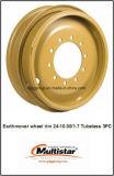 24-10.00/1.7 3PCS OTR d'acciaio bordano le rotelle