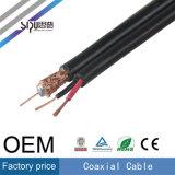 Cable coaxial del precio de fábrica de Sipu Rg59 + cable de comunicación de la energía