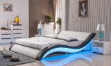 Neuer eleganter Entwurfs-modernes echtes Leder-Bett (HC305) für Schlafzimmer