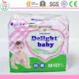 Caraterística impressa e tipo descartável tecidos descartáveis baratos do tecido do bebê