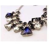De Halsband van de Kraag van het Kristal van dame Fashion Jewelry Blue Waterdrop Glas (001)