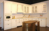 De hete Houten Keukenkast van het Ontwerp van de Verkoop Nieuwe met Concurrerende Prijs