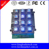 Bon marché mais bon clavier numérique en métal du connecteur 9pins avec le contre-jour