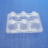 卵のための6つのセルPVCまめの荷箱は卵のためのまめの皿を取り除く
