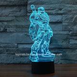 De nieuwe Kleurrijke Bevindende Decoratieve LEIDENE van de Mens van het Ijzer 3D Lichten van de Nacht