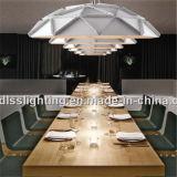 Da lâmpada industrial do metal da barra do restaurante iluminação de suspensão moderna