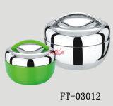 Het roestvrij staal houdt de Warme Container van het Voedsel (voet-03012)