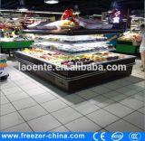 La tenda di notte dei 4 lati rotonda apre il refrigeratore della visualizzazione per le frutta e le verdure