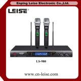 Ls-980 de professionele Microfoon van de Kanalen van de Microfoon Dubbele UHF Draadloze