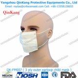 Устранимая Анти--Пыль Non сплетенный лицевой щиток гермошлема Earloop 3 Ply милый