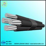Al 6.35/11kv/кабель ABC кабеля XLPE IEC 60502 стандартный/PVC воздушный связанный