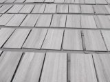Mattonelle di legno grige di legno bianche del rivestimento della parete delle mattonelle delle lastre del marmo della vena, pavimentazione, contro parti superiori