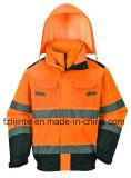 Куртка безопасности видимости отражательного Workwear зимы высокая