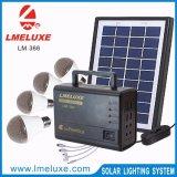 luz 12V solar com 18V 10 sistema de iluminação solar solar da carga Lm-366 do painel do watt