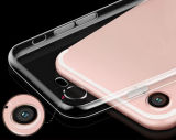 プラスiPhone 7/iPhone 7のための細く薄く明確で適用範囲が広く柔らかいTPUのゲルの箱