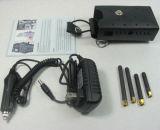 Brouilleur tenu dans la main de signal de téléphone mobile de 4 antennes GPS Bluetooth