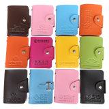 Caixas plásticas do cartão do couro da carteira do cartão do suporte do crédito do PVC