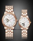 다이아몬드 형식 한 쌍 손목 시계를 가진 새로운 특별한 해골 다이얼