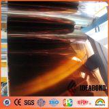 Wohnzimmer-Innendekoration-orange Spiegel-Aluminiumtäfelung
