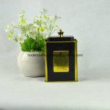 Caixa de empacotamento do estanho do chá feito sob encomenda do quadrado da alta qualidade com punho