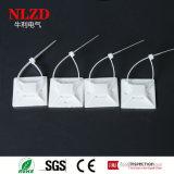 De sterke zelfklevende plastic draadband zet basis op
