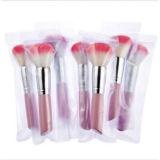 Outil de maquillage rose Pinceau blush non toxique pour cheveux doux et épais